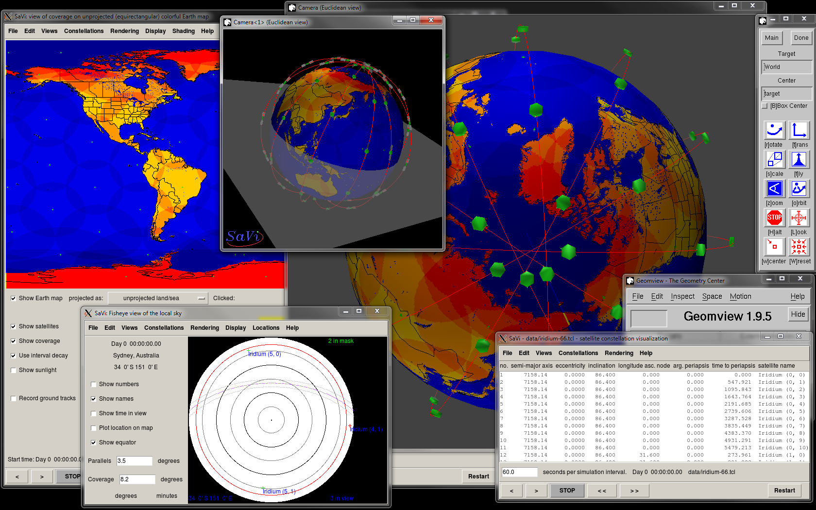 SaVi running under Geomview - click to update